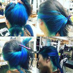 WEBSTA @ konnosukedesu - #フィールヘアー #成田美容師 #成田市美容院 #ブルー#マニパニ#ライラック#ブードゥーブルー#インナーカラー