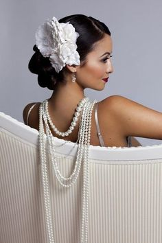 Pearls. It adds the right touch of elegance to any formal gown.