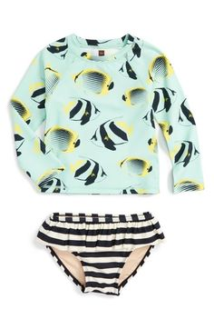ce6d9d4fab668 Tea Collection Esperance Two-Piece Rashguard Swimsuit (Toddler Girls)  available at  Nordstrom