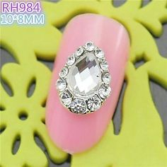 QINF 10PCS RH984 Special Design Water-Drip Luxury Rhinestone 3D Alloy nail art DIY Nail beauty Nail Decoration Nail Salon * Be sure to check out this awesome product.