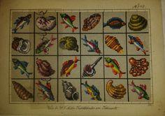 Berlin WoolWork Patterns ~ Fish & Shells Produced By HF Muller ~ eBay.de