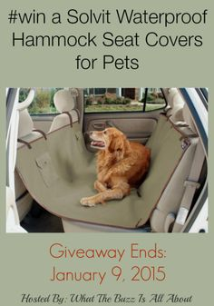 Solvit Waterproof Hammock Seat Covers for Pets Giveaway Cont. US 1/9