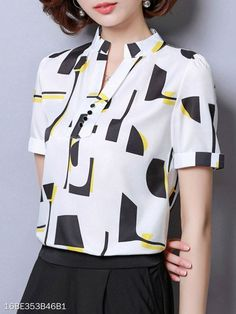 womens shirts and blouses Outfits Casual, Fashion Outfits, Cute Outfits, Fashion Trends, Fashion Clothes, Blouse Styles, Blouse Designs, Cheap Womens Tops, Latest Fashion For Women