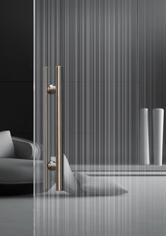 Moderne doppelseitige Glastür Madras® Strip Maté, the new double-sided glass from Vitrealspecchi Cool Mirrors, Beautiful Mirrors, Home Door Design, Verre Design, Glass Repair, Glass Partition, Home Living, Office Interiors, Glass Panels