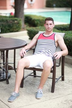 #WhiteOut shorts for a patriotic dapper style