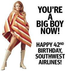 June 18th is our birthday!  Fly with us on our birthday and enjoy a free birthday beverage on us! #Cheers