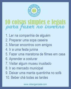 10 coisas simples e legais para fazer no inverno - Vida Organizada   Dicas de organização para facilitar sua vida