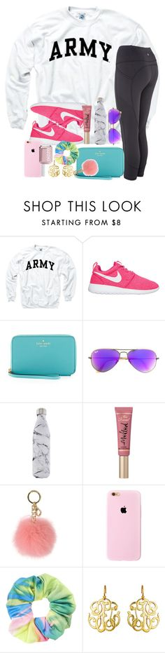 """""""sundays are for outfits like this"""" by thefashionbyem ❤ liked on Polyvore featuring Kate Spade, Ray-Ban, S'well, Too Faced Cosmetics, MICHAEL Michael Kors, Topshop, Susan Shaw and Essie"""