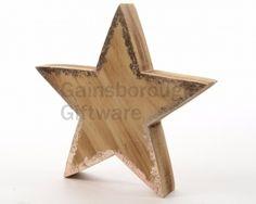 Wooden Star W/Copper Spray Copper Spray, Star W, Wooden Stars, Star Decorations, Woodland, Symbols, Christmas, Art, Xmas