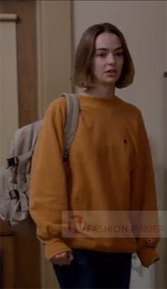 Casey Gardner in orange sweatshirt on Atypical Season 1