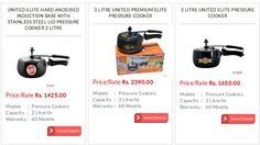 United Pressure Cookers, India's Top Leading and Selling Pressure Cooker Brand has launched its online shopping portal to offer people to buy its complete range of pressure cookers
