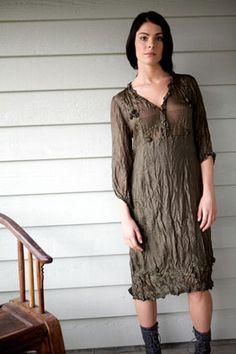 silk jumper, recycled cloth.