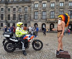 #lackoj #interview between #cop and #indian #artist #damsquare #amsterdam #netherland