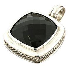 david yurman 925 sterling silver large albion black onyx pendant enhancer