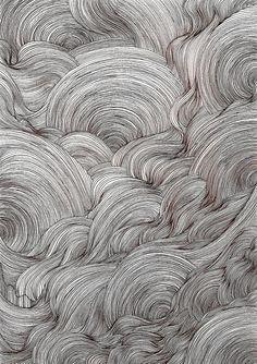 ysabelledurant: ink line drawing