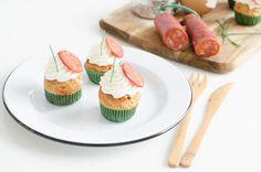 Minis Cupcakes au chorizo et chantilly au chèvre - je dis M