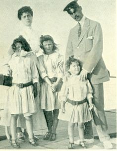 Prince Nicholas of Greece with his wife and daughters.