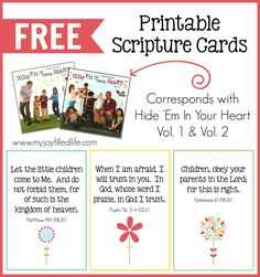 FREE Hide Em in Your Heart Scripture Cards