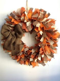 Fall Burlap Wreath, 4-Toned Wreath, Fall Wreath, Thanksgiving Wreath, Autumn…