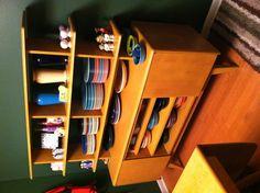 Heywood Wakefield room divider AND LOTS OF FIESTAWARE !