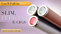 Sooo...I just found a line of pretty, girly e-cigs!!! They wouldn't offend people, wouldn't make me smell like an ashtray, would cut down the cost of smoking, AND reduce my risk of lung cancer!!!! I think they idea of switching to e-cigs is a good one regardless, but this brand just brings the sparkle with it!!!!!! Which, knowing me, makes me SOOOOO veryveryvery happy!!! I want one soooo bad! Go Vapor Couture!