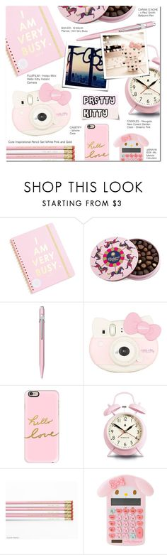 """""""PRETTY KITTY"""" by larissa-takahassi ❤ liked on Polyvore featuring interior, interiors, interior design, home, home decor, interior decorating, ban.do, Charbonnel et Walker, Caran D'Ache and Casetify"""