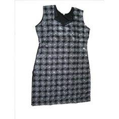0c61da53492 Casual Kurti for Womens Black  amp  White Embroidered Cotton Tunic Top  Small Size (Apparel