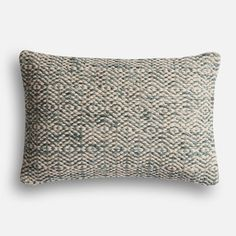 A smaller lumbar pillow from the Magnolia Homes collection by Joanna Gaines, available at Pier 1. Farmhouse home style. {{{aff.link}}}