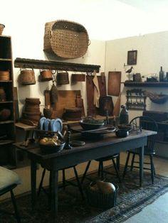 Bountiful Home Primitive table kitchen