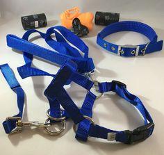 DOG HEAD HALTER AND LEASH SET 5D-BL (0.79 IN) [+ COLLAR + DISPENSER + BAGS] #Unbranded