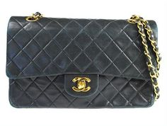 Chanel 255 Classic Flap  Lambskin Shoulder Bag by gailparker4, $1577.00