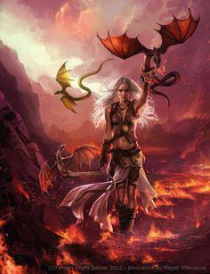 Daenerys Targaryen by Magali Villeneuve