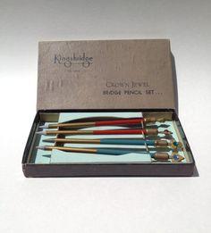 Vintage Bridge Pencils by Kingsbridge All Lead by kraftskeepmesane, $16.00