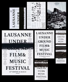 Campaign for the Lausanne Underground Film & Music Festival by Demian Conrad.