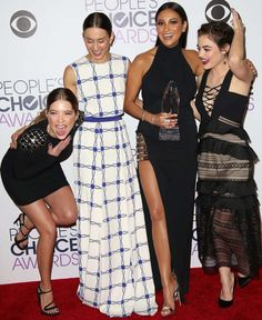 Ashley Benson, Troian Bellisario, Shay Mitchell, and Lucy Hale at the People's Choice Awards 2016 in Los Angeles on January 6, 2016