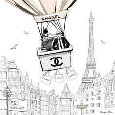 Megan Hess - Chanel, Paris, Karl
