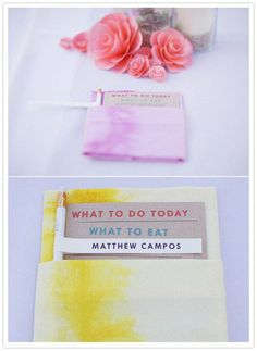 nstead of splurging on decorative napkins, transform inexpensive white ones with this Hand-Dyed Wedding Napkins tutorial.