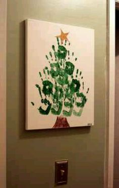 Christmas tree handprint craft/ NEED TO DOW WITH ALICE AND AZARA