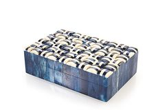6 x 4 x 2 Color Bone/Blue compressed Box $75/29 on OneKingsLane.com