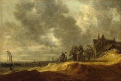 Jan van Goyen - Het strand van Scheveningen in 1634