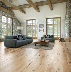 60 Awesome Farmhouse Flooring Design Ideas And Decor - Wood Parquet Farmhouse Flooring, Wooden Flooring, Wide Plank Laminate Flooring, Flooring Ideas, Living Room Flooring, Floor Design, Engineered Wood, Design Case, Family Room