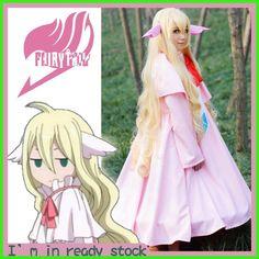 [STOCK] Anime FAIRY TAIL Figure Mavis Vermilion Full set Dress+Ears+Bustle cosplay costume S-2XL Hot sale free shipping