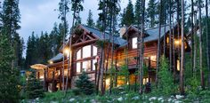 Handcrafted Chink Style Log Home in Breckenridge, Colorado