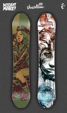 snowboard design by dzeri29, via Flickr