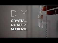 ▶ DIY Crystal Necklace +Giveaway Winner! - YouTube