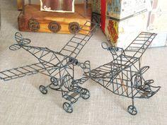 Vintage Handmade Wire Airplanes Classic Vintage by wilshepherd