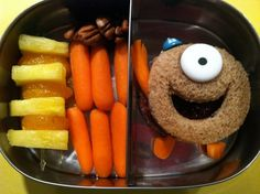 I love this one, very creative.  I think we should eat this one when we watch Monsters, Inc.