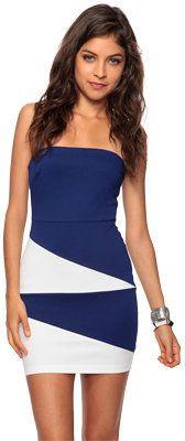 ShopStyle: Forever 21 Asymmetrical Colorblock Dress