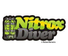 Nitrox Diver Enriched Air Scuba Diving Sticker Decal