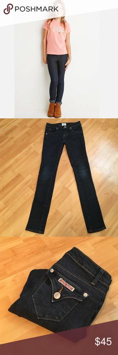 """Kids Hudson: Skinny jeans - size 10 Classic Hudson skinny jeans in EXCELLENT condition!! Inseam: 26"""", Rise: 7.25"""". They measure 11.5"""" across the waist when laying flat. Material 98% Cotton, 2% Elastane. Hudson Jeans Bottoms Jeans"""